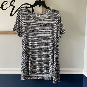 Old Navy Jersey Swing Top Sz Small Black and White
